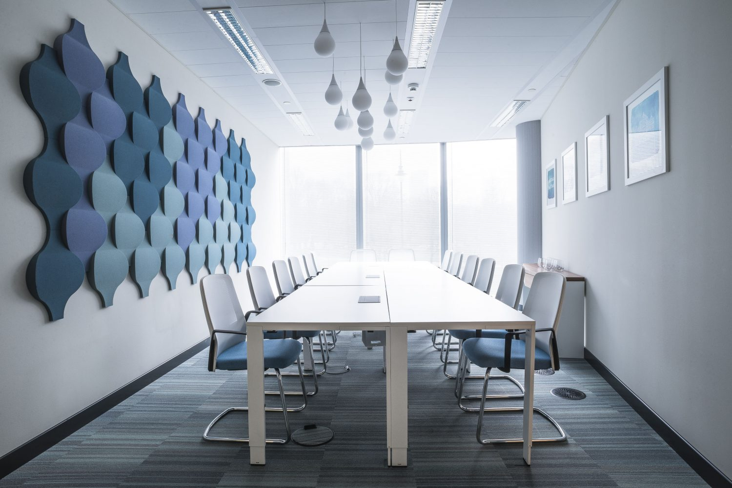 blended colour scheme office interiors from Stacked