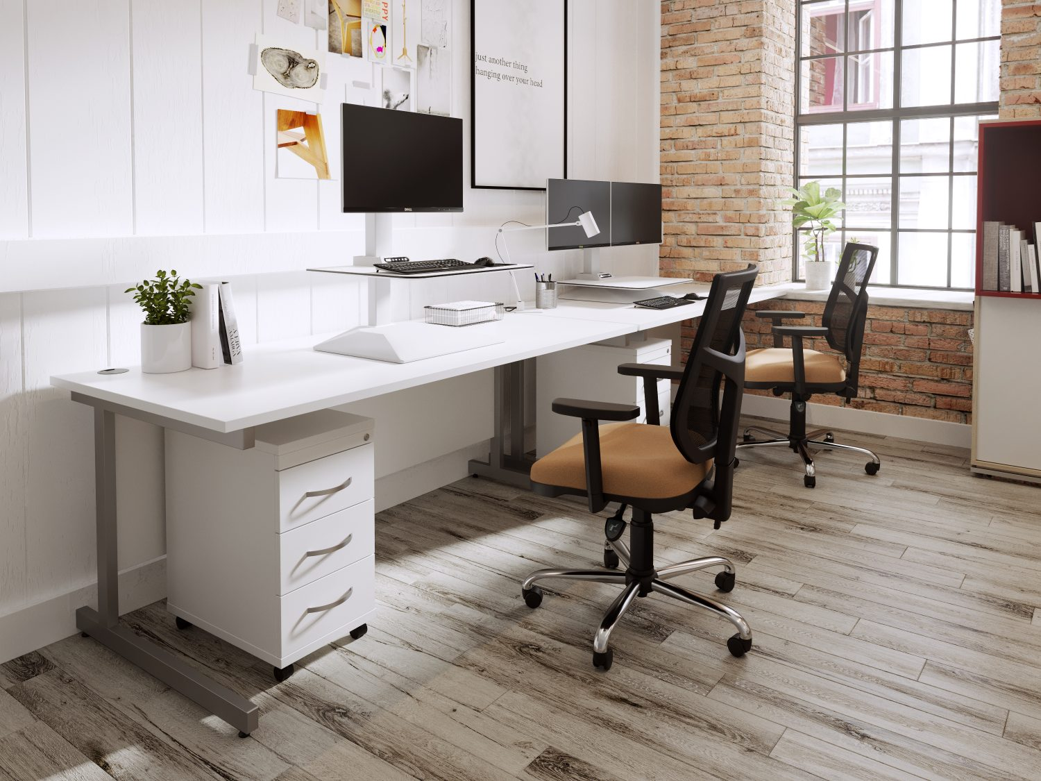 sit stand work stations from stacked